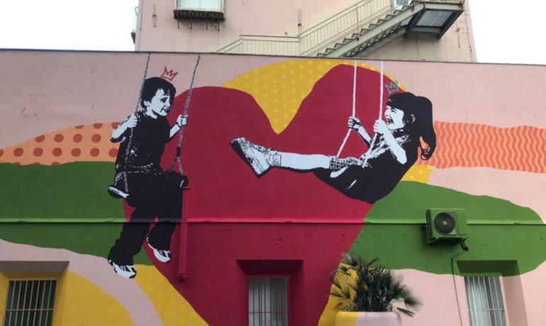 "INAUGURAZIONE OPERA DI STREET ART ""SWINGING FOR LOVE"""